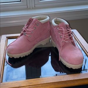 Timberland Pink Ankle Boots